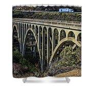 Goleta Hwy 101 Bridge Shower Curtain