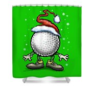 Golf Christmas Shower Curtain