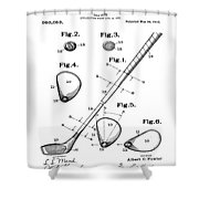 Golf Club Patent 1910 Shower Curtain