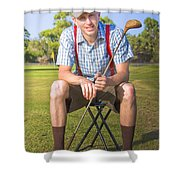 Golf Club Pro Shower Curtain