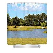 Golf Course Beauty  Shower Curtain