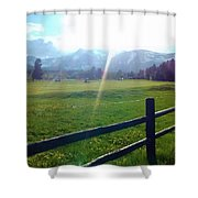 Golf Course Sun Rays Shower Curtain