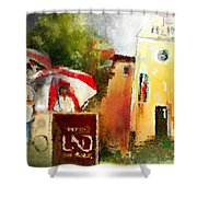 Golf In Club Fontana Austria 01 Dyptic Part 02 Shower Curtain