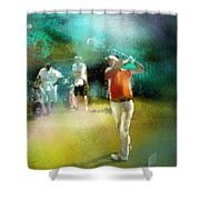 Golf In Club Fontana Austria 03 Shower Curtain