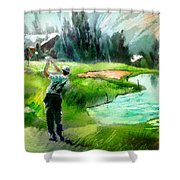 Golf In Crans Sur Sierre Switzerland 01 Shower Curtain