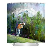 Golf In Crans Sur Sierre Switzerland 02 Shower Curtain