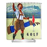 Golf In Deutchland Shower Curtain