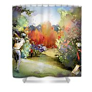 Golf In Gut Laerchehof Germany 02 Shower Curtain