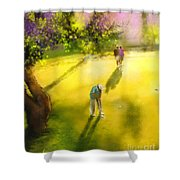 Golf In Spain Castello Masters  01 Shower Curtain