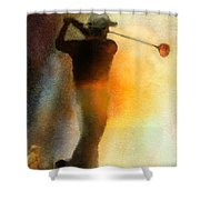 Golf In The Portugal Masters 01  Shower Curtain