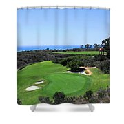Golf Is Rough At Pelican Hill Resort Shower Curtain