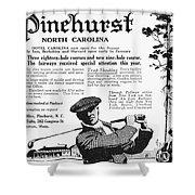 Golf: Pinehurst, 1916 Shower Curtain