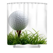 Golfball Shower Curtain by Kati Molin