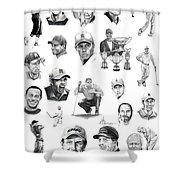 Golfers Shower Curtain