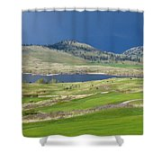 Golfing And Grazing Shower Curtain