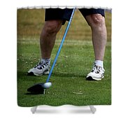 Golfing Driving The Ball In Flight Shower Curtain