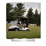 Golfing Golf Cart 01 Shower Curtain
