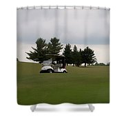 Golfing Golf Cart 02 Shower Curtain