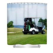 Golfing Golf Cart 03 Shower Curtain