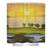 Golfing Heaven Shower Curtain