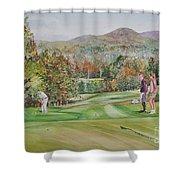 Golfing In Vermont Shower Curtain