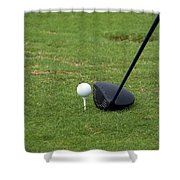 Golfing Lining Up The Driver Shower Curtain