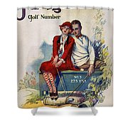 Golfing: Magazine Cover Shower Curtain
