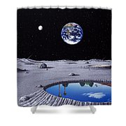Golfing On The Moon Shower Curtain