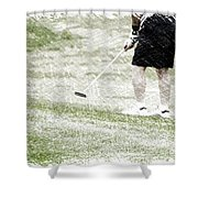 Golfing Putting The Ball 01 Pa Shower Curtain