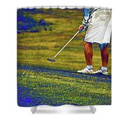 Golfing Putting The Ball 02 Pa Shower Curtain