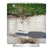 Golfing Sand Trap The Ball In Flight 01 Shower Curtain