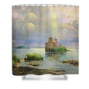Golgotha Fantasy Impressionism Shower Curtain