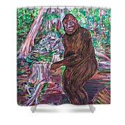 Goliath - The Bigfoot Of Ash Swamp Road Shower Curtain