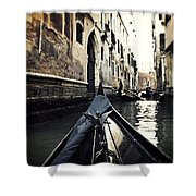 gondola - Venice Shower Curtain by Joana Kruse