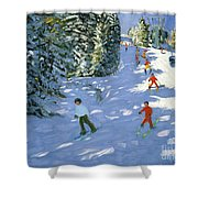 Gondola Austrian Alps Shower Curtain by Andrew macara