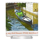 Gondola Boat, Venice, Italy, World Showcase, Epcot, Walt Disney  Shower Curtain