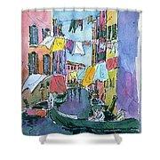Gondola In A Venetian Canal Shower Curtain