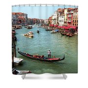 Gondola On The Grand Canal Shower Curtain