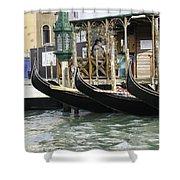 Gondola Pier Shower Curtain