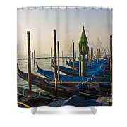 Gondolas At San-marco, Venice, Italy Shower Curtain
