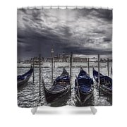 Gondolas In Front Of San Giorgio Island Shower Curtain