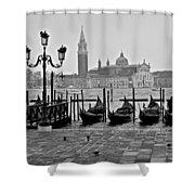 Gondolas Of San Marco Square Shower Curtain