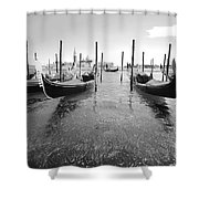 Gondolier In The Distance Shower Curtain