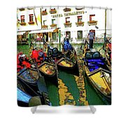 Gondoliers In Venice Shower Curtain