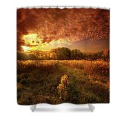 Gone Far Away Into The Silent Land Shower Curtain