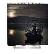 Gone Fishing Shower Curtain by Joana Kruse