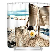 Gone For A Swim Shower Curtain