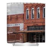 Gone Grocery 5 #vanishingtexas Street Scene Rosebud Texas Shower Curtain