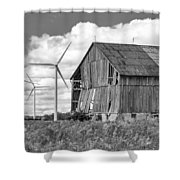 Gone With The Wind 3 Bw Shower Curtain