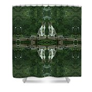 Goober Reflectoscope Shower Curtain